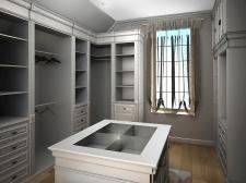 Разработка интерьера гардеробной комнаты