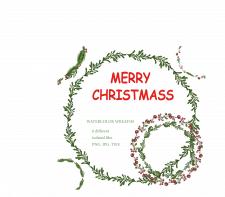 Рождественские венки, вектор