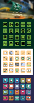 Network Communication Icons Set