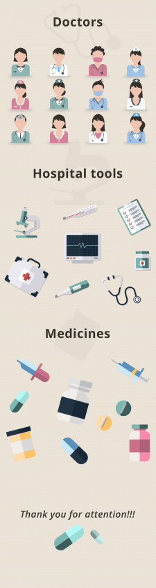 Vector icons for medicine