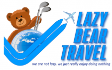 Драфт логотипа агентства Lazy Bear Travel
