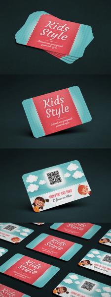 "Дизайн визитки ""Kids style"""