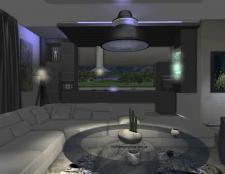 Современный интерьер в доме с видом на Море