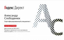 Сертификат по Яндекс.Директ