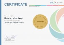 My Certificates JS(Sololearn)