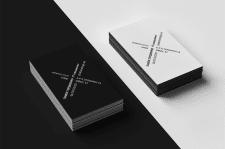 Визитка black&white