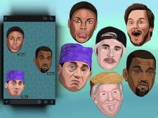Создание стикеров знаменитостей