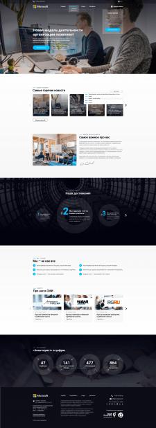 Дизайн шаблону корпоративного сайту