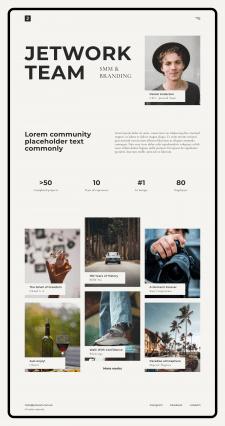 Дизайн сайта в Figma