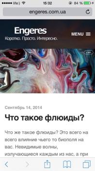 Engeres - адаптивная версия блога