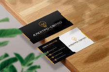 Логотип/брендбук на примере визитки ЄЛЕКТРО-СВІТЛО