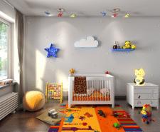 3d визуализация детской комнаты