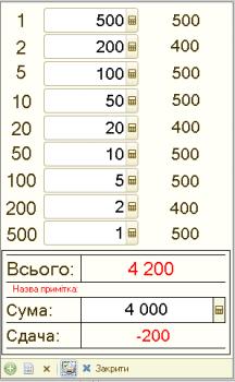 Калькулятор готівки