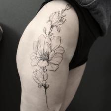 Tattoo magnolias тату магнолії