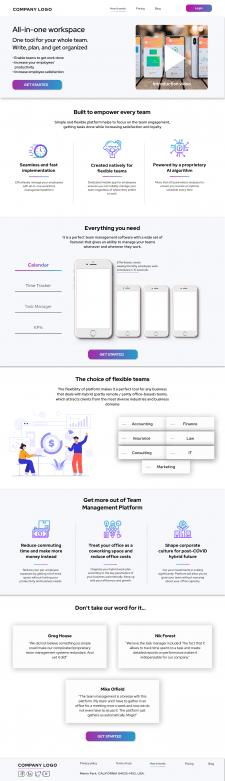 Дизайн для лендинга Saas-платформы