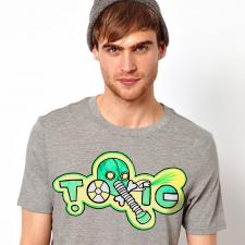 """принт на футболку """"toxic"""""""