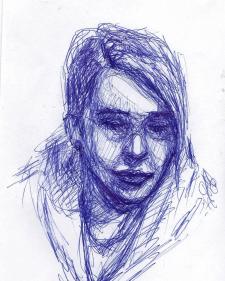 Набросок ручкой. Портрет.