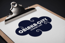 Дизайн лого для кафе OBLAKA