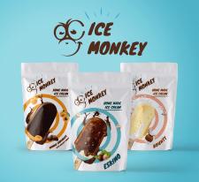Дизайн упаковки мороженного Ice Monkey