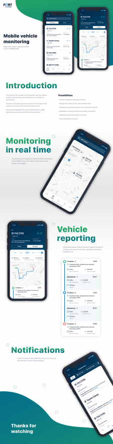 Mobile vehicle monitoring app