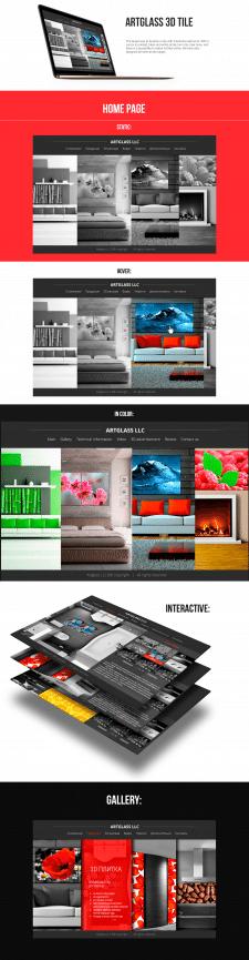 Интерактивный сайт 3d-плитки