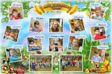 Коллаж для центра дошкольников