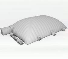 3D рендер модели тента для сайта