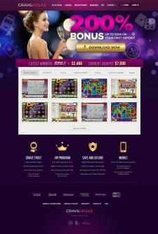 Верстка сайта онлайн казино.