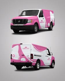 """Брендирование авто """"Pink Cat"""""""