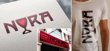 "Логотип для лаунж-кафе ""NORA"""