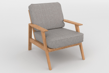 Fauteuil vintage heather gray