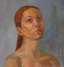 Портрет, темпера.
