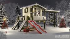 Зима детский домик