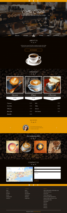 Coffee Castle HTML5 Theme