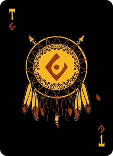 Spielkarten Indians- Skelette14
