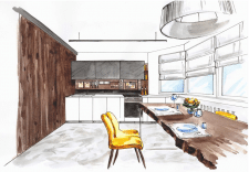 проект кухни (эскизное предложение)