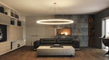 Визуализация гостиной с камином