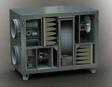 Вентиляционная рекуперационная установка горизонта