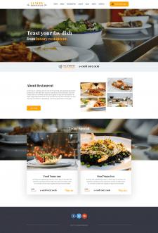 Luxurt Restaurant - Адаптивная верстка из PSD