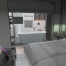 Проектировка комнаты с не обычной ванной
