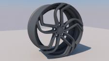 low poly wheel from a car lLAMBORGINI