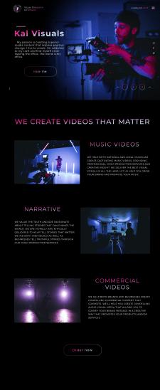 Сайт-портфолио для видеорежиссера