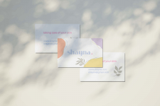 Business card for skincare brand