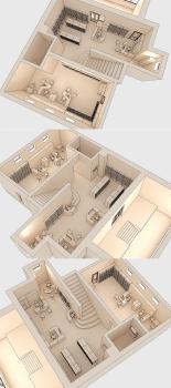 3D макет размещения мебели 6