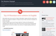 Blog posts in the English language