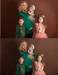 ретушь дети