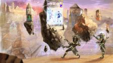 Ландшафт для игры Египет фантастика летающие камни