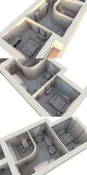 3D макет размещения мебели 4