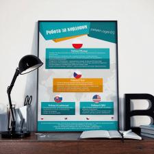 Постер компании по трудоустройству peleh.agency
