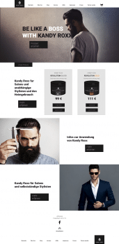 Сайт для немца, гель для волос